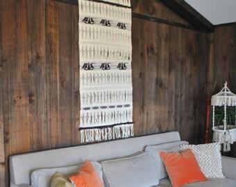 SALE Woven Wall Hanging / display decor 1970s
