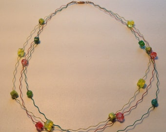 Wiggle wire necklace