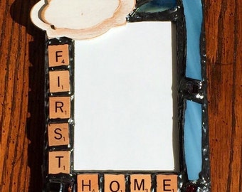 Scrabble Inspired - Custom (My/Our) First Home Picture Frame (holds a 4 x 6 photograph)