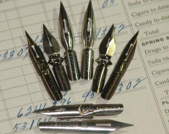 8 Assorted Vintage Pen Nibs -  II