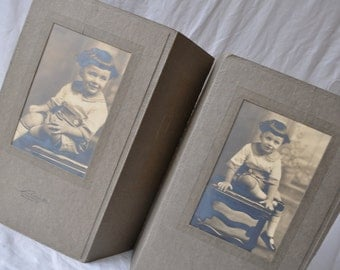 Little Boy With Bangs/Vintage c. 1920s/Antique Child's Portrait Photograph