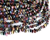 Buri seed nuggets dyed beads - mixed colors - 1 strand