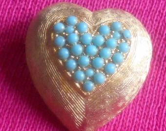 2 DAY SALE Vintage Heart Brooch
