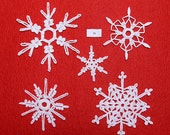 Crocheted Snowflakes - set 16