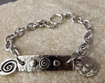 Just Breathe Spiral Bracelet