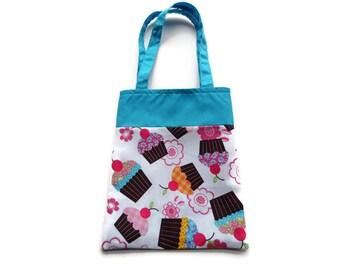 Fabric Cupcake Gift/Goodie Bag - Cupcakes
