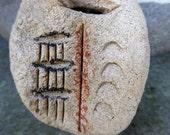 Reserved for Sue C -Artisan made ceramic pendant -  Wabi Sabi Talisman
