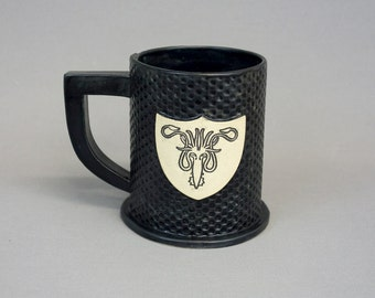 House Greyjoy Ceramic Mug in Matte Black
