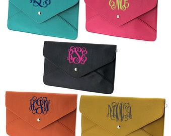 Monogrammed Envelope Clutch Crossbody Purse