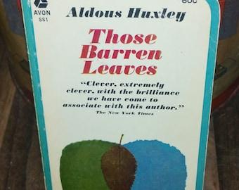 Those Barren Leaves by Aldous Huxley Vintage Paperback Book