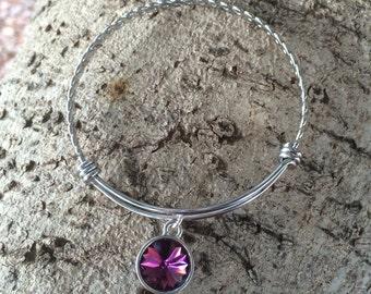 Amethyst Birthstone Bracelet, Amethyst Birthstone Jewelry, February Birthstone Jewelry, Amethyst Bracelet, Mother's Day Jewelry
