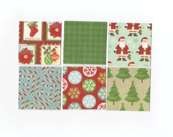 SALE Christmas Mini Note Cards (set of 6) CMN15 / Ready To Ship