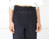 reserved for Y -- high seas -- vintage 50s authentic wool button-front wide leg sailor pants S/M