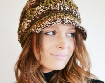 Newsboy Hat, Chunky Baker Boy Hat, Womens Peaked Hat, Uk Winter Hat,