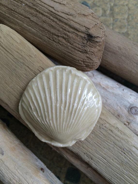 Gratiot Lake Basket Weaving Supplies : Ceramic cabochon seashell beige jewelry making