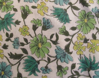Vintage floral cotton 1 yard x 35 inches more available
