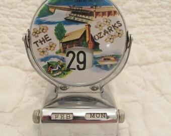 Vintage Perpetual Calendar The Ozarks SALE