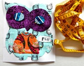 Happy Owl Sewing Kit Sew a Pillow OR Sew a Wall Hanging 8.5X11 Beginner Sewing Kit Gift Idea for Valentines Day