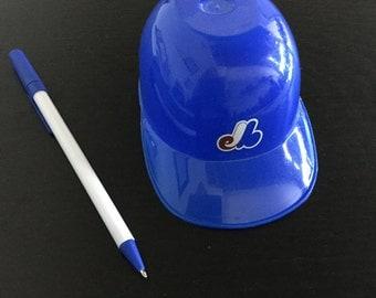 Mini retro plastic Montreal Expos ball cap hat display 80s 80's vintage