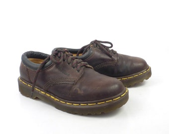 Doc Martens Oxfords Vintage 1990s Dr Brown Leather Oxfords Shoes UK size 4