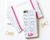 Monogrammed iPhone 6s / iPhone 6 / iPhone 5 Case - Watercolor Drops