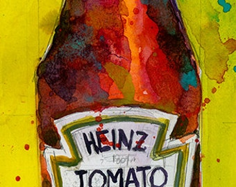 Heinz Tomato Sauce - kitchen Decor- Original  Print
