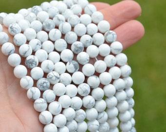 1 Strand 8mm Howlite Beads BD985