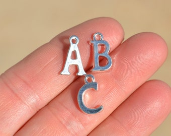 1 Set Silver Plated Alphabet Charms  A to Z   SC3376