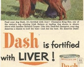 Vintage 1952 1950s magazine ad advertisement - Dash Dog Food --Expires May 30, 2016 and will not be renewed--