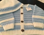 Blue Boy Sweater with Football Buttons