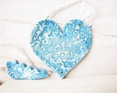 Heart Sun Catcher Ceramic  Wall Hanging Love me Love my Dog Sun Catcher Crystal Beads Ceramic Heart