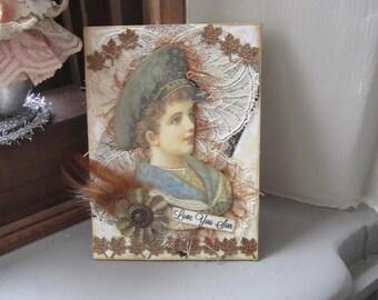 Adult Son Birthday Card - Vintage-style Birthday Son