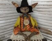 OOAK DOLL Primitive Folk Art Halloween Rabbit