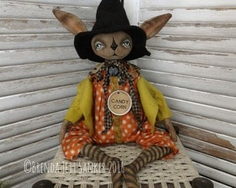 OOAK DOLL Primitive Folk Art Halloween Rabbit