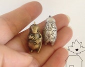 Solid Cast Sterling Silver or Brass City Sloth Sculpture Pendant