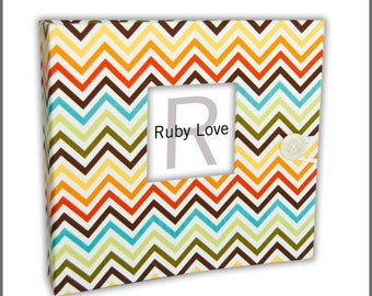 BABY BOOK | Mini Bermuda Chevron Album | Ruby Love Modern Baby Memory Book