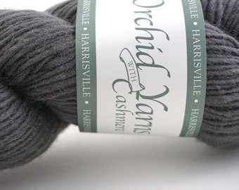 deSTASH: Harrisville Orchid Yarns with Cashmere Silver Oak
