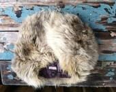 Fur Collar Fox Vintage Handmade