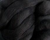 Ashland Bay Solid Black Color Merino Wool Roving