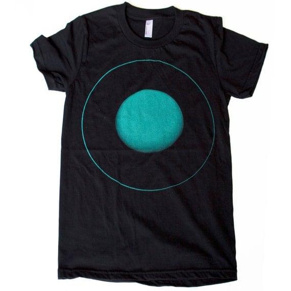 Womens Uranus PLANET T Shirt american apparel short sleeved space shirt S M L Xl