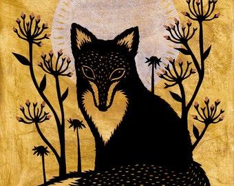 The Wilderness Listens - 8 x 10 inch Cut Paper Art Print