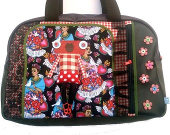 "Bag molly creative bag unique bag n12 ""El corazon de Frida"", Frida Khalo"