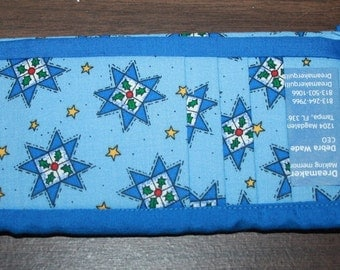 Holiday Quilt Flat Wallet