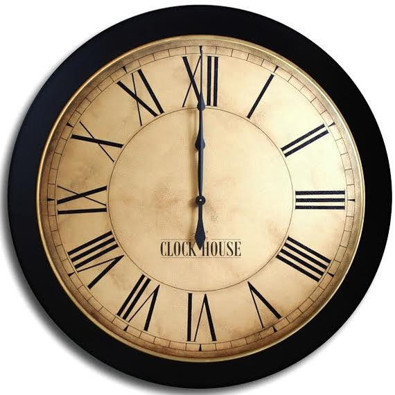 Large Wall Clock 30in Whiting Distressed Gallery By