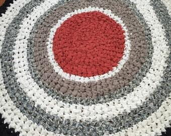 Cotton Crochet Upcycled Rag Rug