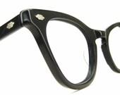 Vintage Black Cat Eye Glasses Eyeglasses Sunglasses Frame Art Craft