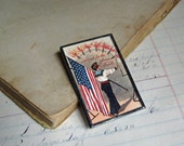 Firecracker PFB Patriotic Postcard Pin, Cleaning out Inventory Sale