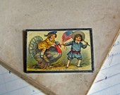 Thanksgiving Postcard Pin, The Original Postcard Jewelry, Inventory Sale