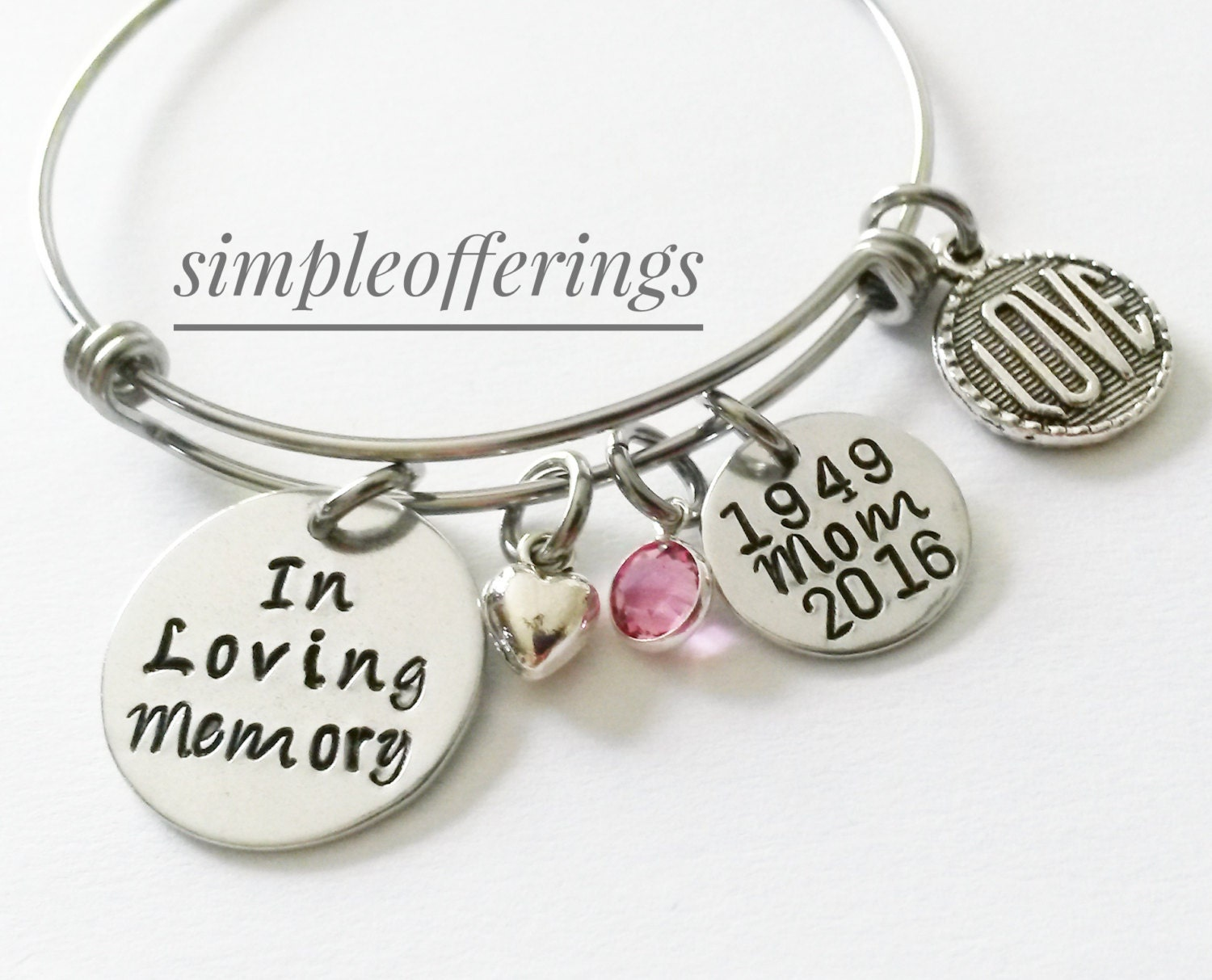 in loving memory jewelry in loving memory bracelet memorial bracelet memorial 6033