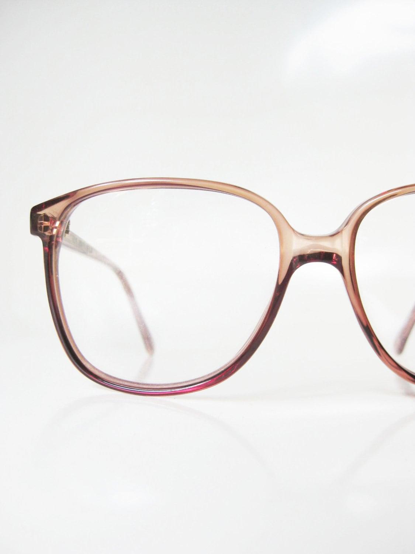 1970s wayfarer eyeglasses glasses light apricot